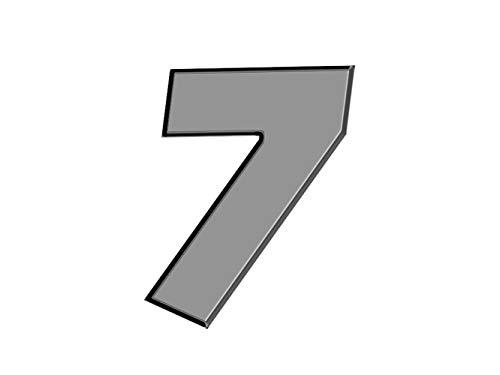 Oedim Numero de casa de Aluminio dibond | Número 5 de 20cm de Altura | 3mm de Grosor | para Exteriores o Interiores para Exteriores o Interiores | Alta ...