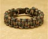 "UPC 639266780687, Woodland Camo Paracord Survival Bracelet By Bostonred2010 (9"")"