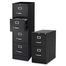 Lorell 2-Drawer Vertical File, 15 by 22 by 28, Black (Black Vertical 2 Drawer)