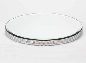 Diamante Edge Mirror Plate (30cm): Amazon.co.uk: Kitchen & Home