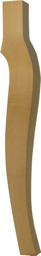 Carved Cabriole Legs - Cabriole Dining Table Leg in Soft Maple - Dimensions: 29 x 3 1/2 inches