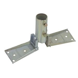 Peak Roof Mount Antenna Fits Masts Up To 1 3/8'' Inch Tubing Galvanized Steel Mast Rooftop Mounting