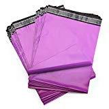 Shiplies Poly Mailer #4 10''x13'' Gold Flower Pattern (Purple, 10'' x 13'' 100 Pack)