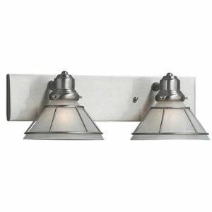 Dolan Designs 632-09 2Lt Bath Satin Nickel Craftsman 2 Light Bathroom Fixture ()