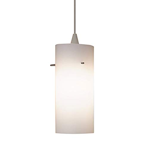 WAC Lighting PLD-F4-454WT/BN Dax 1 Light Canopy Pendant, White/Brushed ()