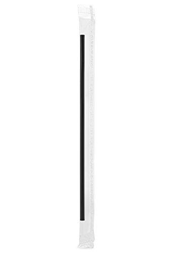 1000//box DispoCo 5 Black Unwrapped Cocktail Coffee Sip Stirrer Straws