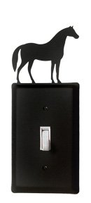 Village Wrought Iron ES-68 Horse Switch - Horse Covers Switch Light