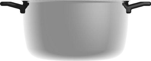 Alessi Stock Pot (Alessi Shiba Stockpot with Lid, 3 Qt 5.75 Oz, H.4.25