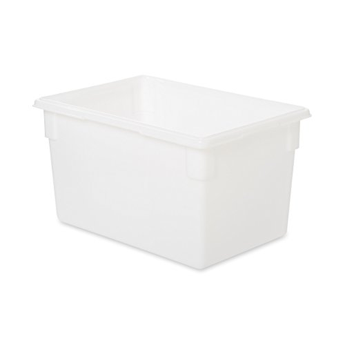Rubbermaid Commercial 3501WHI Food/Tote Boxes, 21.5gal, 26w x 18d x 15h, White