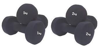 Generic - Juego de Mancuernas de Fitness (2 kg, 1 kg, 2 x