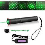 Tactical Green Hunting Rifle Scope Sight Laser Pen, Demo Remote Pen Pointer, Outdoor Travel Flashlight, LED Interactive Baton Funny Laser Toy Pointer, Press Switch with Lock