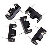 TOOGOO(R) 5x1/2AA 14250 Battery Storage Clip Box Case Holder 3.6V With PCB Pin Solder lead