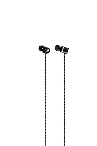 Kicker 43EB93B Microfit Premium Earbuds | in-Ear Noise-Isolating Earphones | Silicon Ear Tips 4 Sizes | in-Line Mic and Multi-Function Button | Legendary Audio Quality