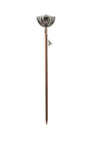 Aristo Gartenfackel MONTE CARLO Edelstahl matt 160cm
