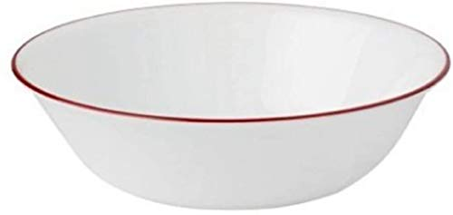 Corelle Livingware 32-Piece Dinnerware Set, Splendor Coupe Service for 8 Salted Salad