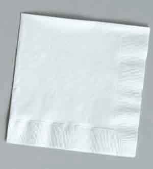 Creative Converting 139140154ホワイト2 Ply Beverage Napkins B01GXI5H96