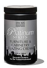 Platinum Series Furniture and Cabinetry Glazing Cream -Case Pack 4 Qts Tintable Clear Medium Glaze Walls Furniture Plaster Paint Plaster Walls Ceiling Overglaze Texture Stencil Relief Faux Distress