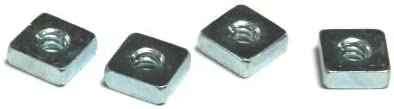 Carton 300 Pc 1//2-13 Regular Square Nuts//Steel//Zinc