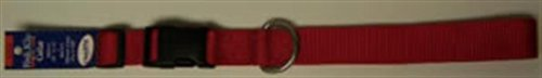 Kwik Klip Adjustable Dog Collar Large Red by Leather Bredhers