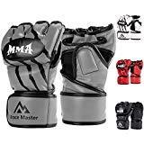 Brace Master Boxing Gloves Bag Gloves for Men&Women Leather, Gel Boxing Training Gloves for Punching Bag Heavy Bag Mitts, UFC MMA Muay Thai Sparring Kickboxing Gloves