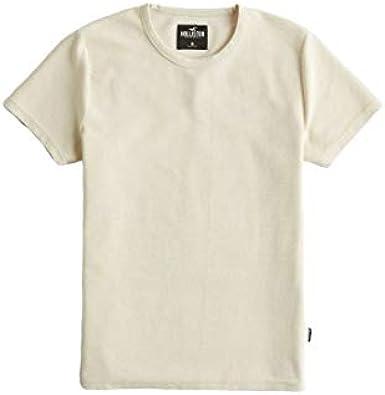 Hollister - Camiseta de cuello redondo acanalado para hombre: Amazon.es: Ropa y accesorios