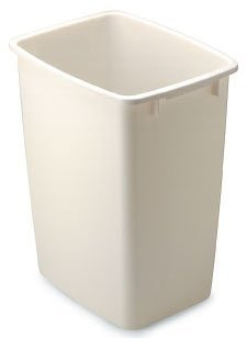 Rubbermaid FG2806TPWHT 36 Quart White Open Wastebasket by Rubbermaid