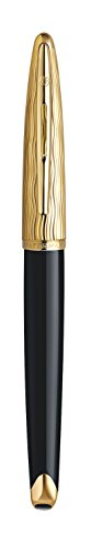 Waterman Carene Essential Black and Gold, Rollerball Pen with Fine Black refill (S0909790) by Waterman (Image #2)