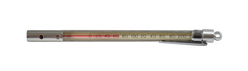 (Thermco ACC534PS Precision Red Spirit Filled Pocket Test Thermometer, Closed Case, 0 to 220°F Range, 2°F Division, 165mmLength)