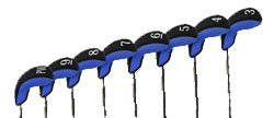 ステルスハイブリッドゴルフクラブヘッドカバーのセット8 – 8 Colors Available B007PFZ2QA Royal Blue