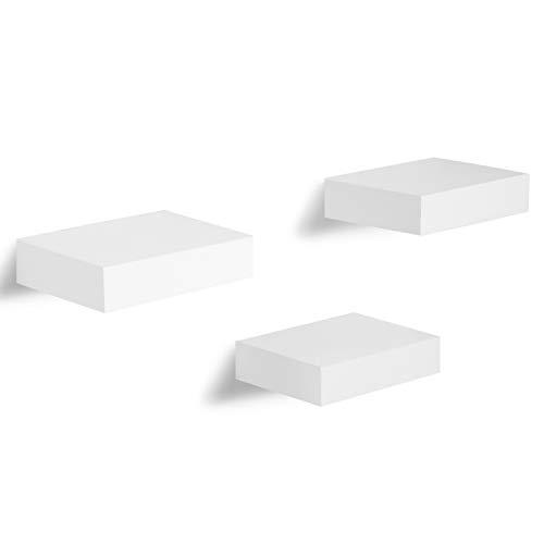 Americanflat Set of 3 - Floating Wall Ledges - White