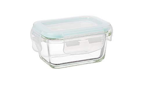 Signoraware Lock 'N' Store High Borosilicate Bakeware Safe Glass Container Rectangular, 150ml, Clear