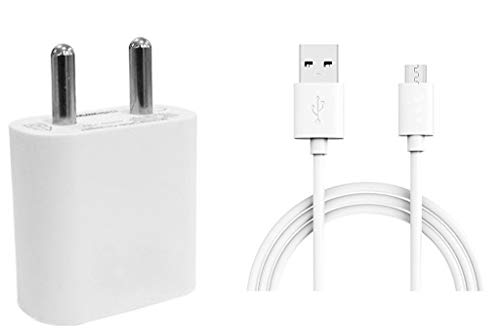 STARKWOOOD 2A Charger Adapter with 1 m Micro USB Data Cable for Huawei Honor Holly 2 Plus  White
