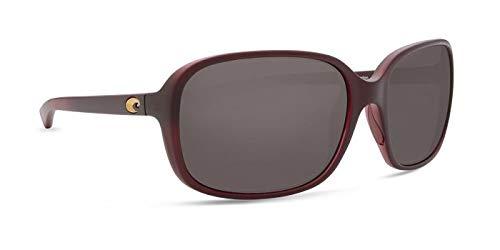 Costa Del Mar Riverton Sunglasses Matte Pomegranate Fade/Gray 580Glass by Costa Del Mar
