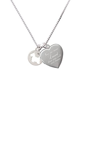 Scottie Dog Silhouette You are more Loved Heart Locket Necklace ()
