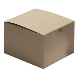 Kraft Gift Boxes 6 x 6 x 4 Case of 100