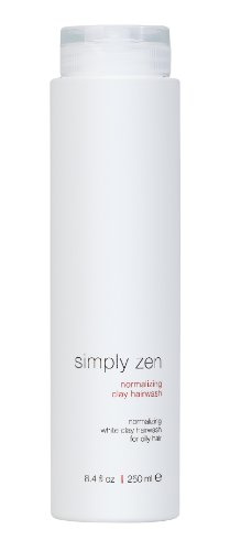 Oil Oily Hair Normalizing Shampoo - Simply Zen Normalizing Clay Hairwash 8.4 Oz for Oily Hair.