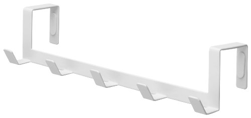 YAMAZAKI home Smart Wide Over the Door Rack, White