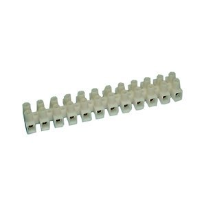 Euro Barrier (12 Position Euro Style Nylon Barrier Strip - 20 Amp : 13-1208 by