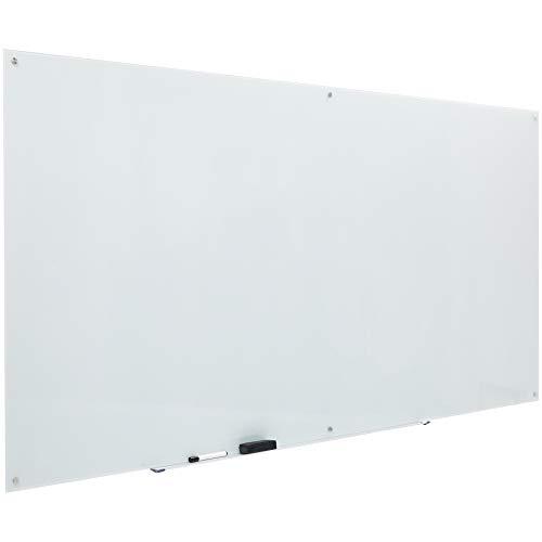 AmazonBasics Glass Dry-Erase Board - White, Magnetic, 8 Feet x 4 Feet (Glass Board)
