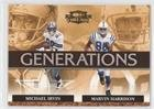 Michael Harrison Football - Marvin Harrison; Michael Irvin (Football Card) 2007 Donruss Threads - Generations #G-5