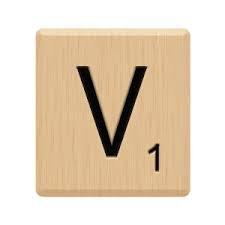 10 GENUINE Scrabble Letter V Tiles Lazar Laser Engraved For Crafts Game Piece HIGH Quality Hardwood Individual