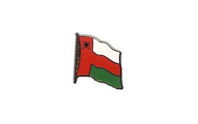 Flaggen-Pin//Anstecker Oman vergoldet