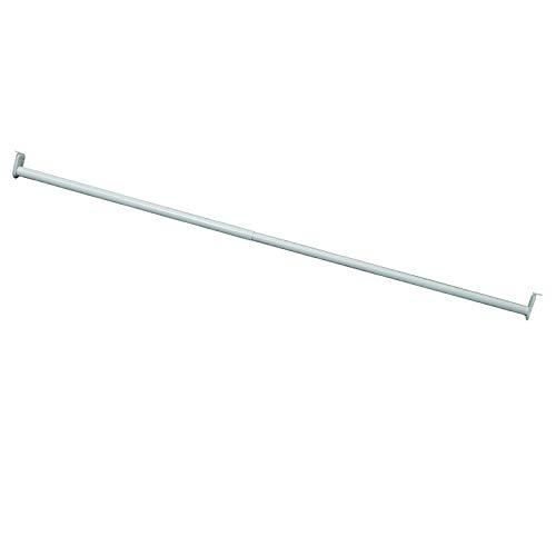 "Design House Hardware 205831 Adjustable Closet Rod, 48""-72"", White"