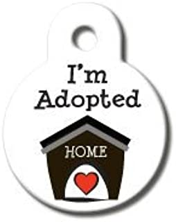 product image for Rockin Doggie I'm Adopted Dog ID Tag