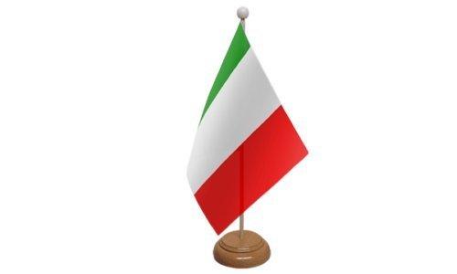59/mm spilla Italia piccola bandiera da tavolo con supporto in legno