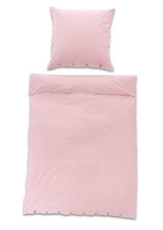 Myhomery Bettwäsche 2 Teilig Bettbezug Kissenbezug Mit Knöpfen