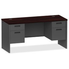 - Lorell 97119 Pedestal Credenza,Double,Kneespace,60-Inch Wx24-Inch Dx29-1/2-Inch H,My/CCL