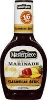 Caribbean Marinade - KC Masterpiece 30 Minute Marinade, Gluten Free -Caribbean Jerk Marinade Sauce 16 oz. bottle (Case of 6)