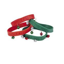 24 Jingle Bell Rubber Bracelets
