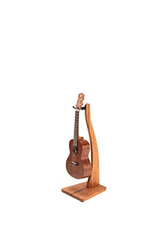 Zither Wooden Ukulele or Mandolin Stand - Handcrafted Solid Mahogany Wood Floor Stands, Made in USA
